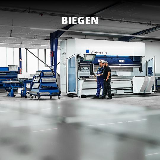 Leistungsbereich Blech biegen - King GmbH Blechverarbeitung in Fluorn-Winzeln
