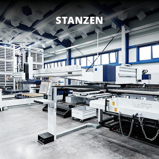 Leistungsbereich Blech Stanzen - King GmbH Blechverarbeitung in Fluorn-Winzeln